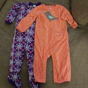 24 m 2 pack  fleece pajamas